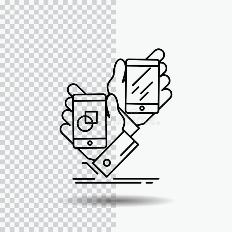 Voorlichting, merk, pakket, plaatsing, productregelpictogram op Transparante Achtergrond Zwarte pictogram vectorillustratie stock illustratie