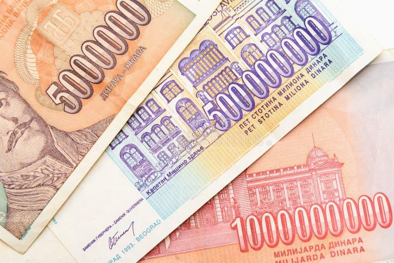 Voormalig Joegoslaviëbankbiljetten royalty-vrije stock afbeeldingen