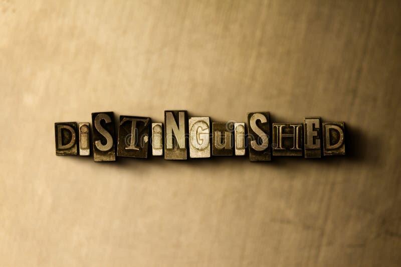 VOORNAAM - close-up van grungy wijnoogst gezet woord op metaalachtergrond stock illustratie
