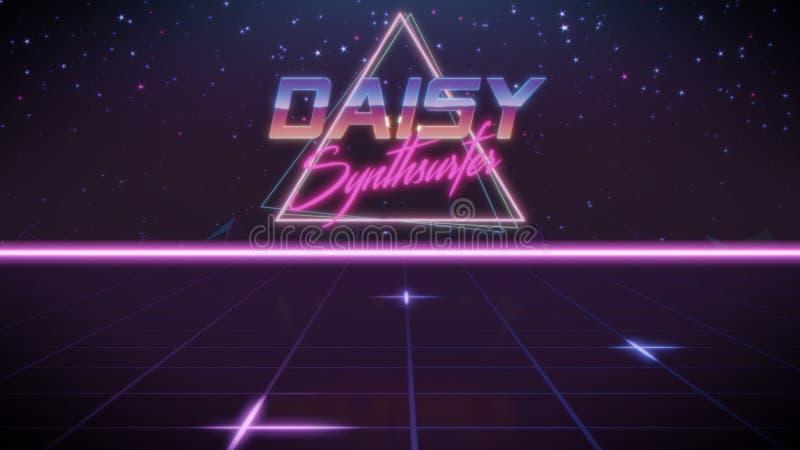 voornaam Daisy in synthwavestijl vector illustratie