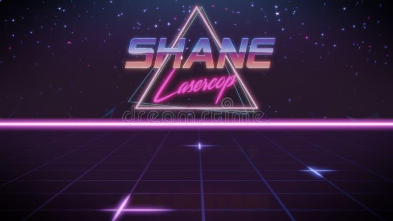 voornaam Shane in synthwavestijl vector illustratie