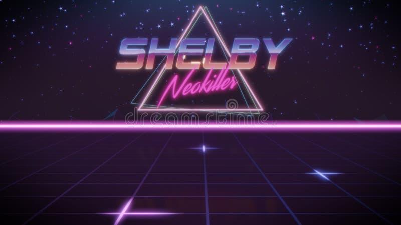 voornaam Shelby in synthwavestijl royalty-vrije illustratie