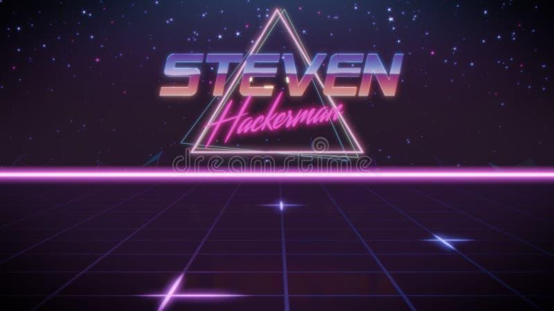 voornaam Steven in synthwavestijl royalty-vrije illustratie