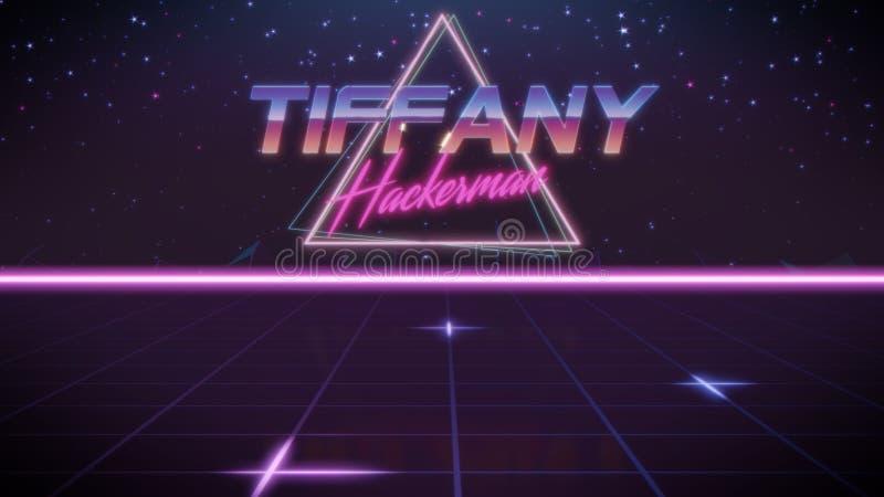 voornaam Tiffany in synthwavestijl vector illustratie