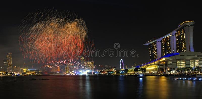 Voorproef Van De Parade 2011 Van De Dag Van Singapore De Nationale Redactionele Foto