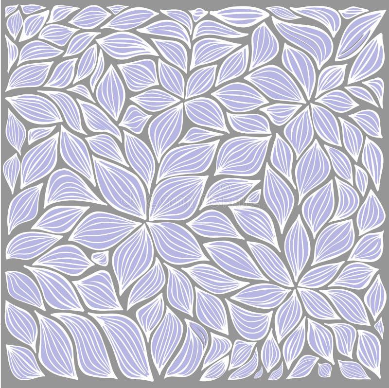 Voorraad abstracte blad en geplaatste bloemenelementen de zomerdesi royalty-vrije illustratie