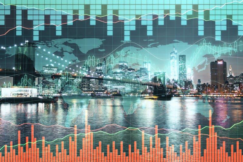 Voorraad, globaal zaken en analyseconcept stock foto