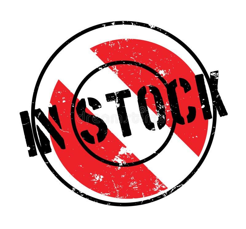 In Voorraad rubberzegel stock illustratie