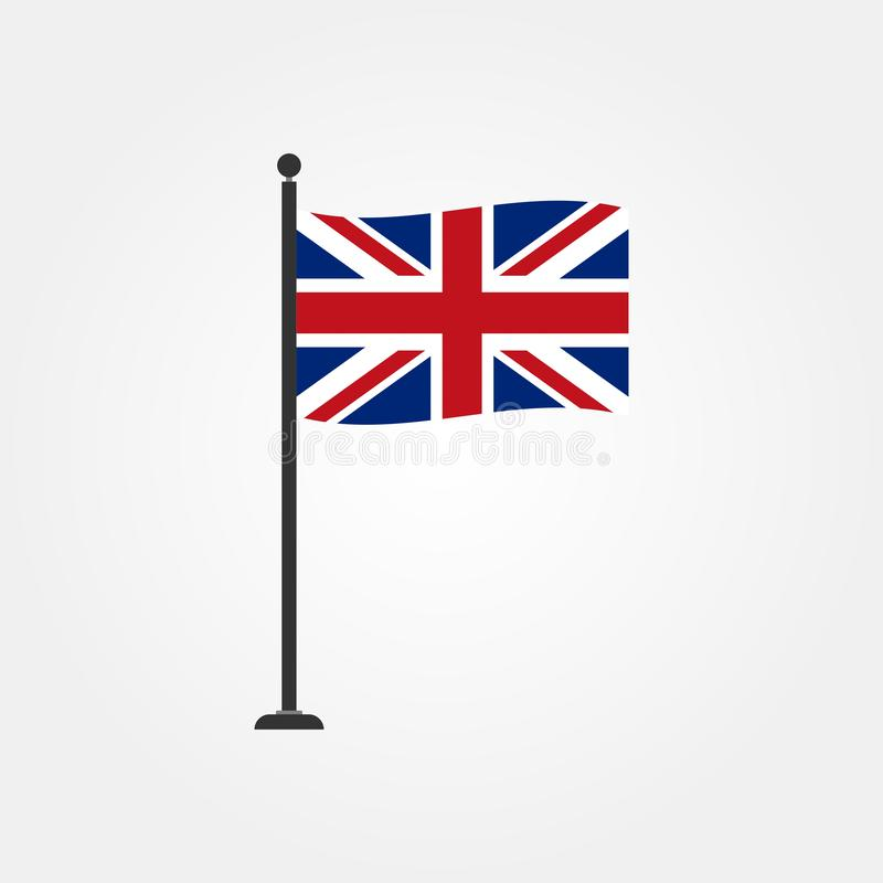 Voorraad vector Brits vlagpictogram 4 stock illustratie