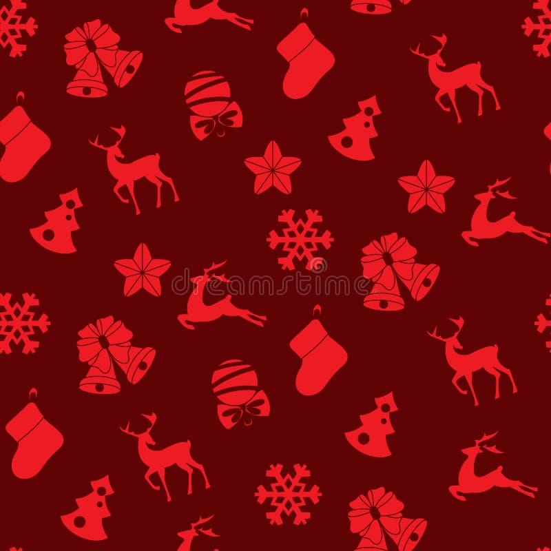 Voorraad vector naadloos van de winter en Kerstmisvoorwerpen vector illustratie