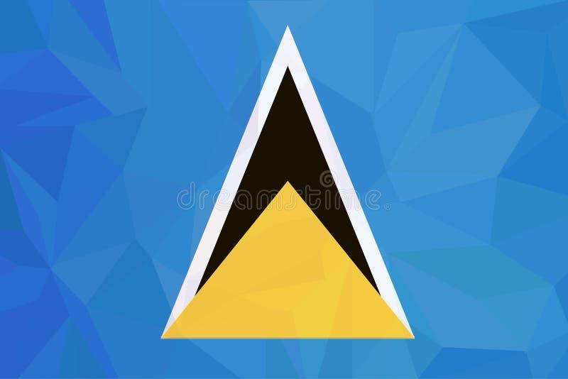 Voorraad Vectorvlag van Heilige Lucia - Juiste Afmetingen royalty-vrije illustratie