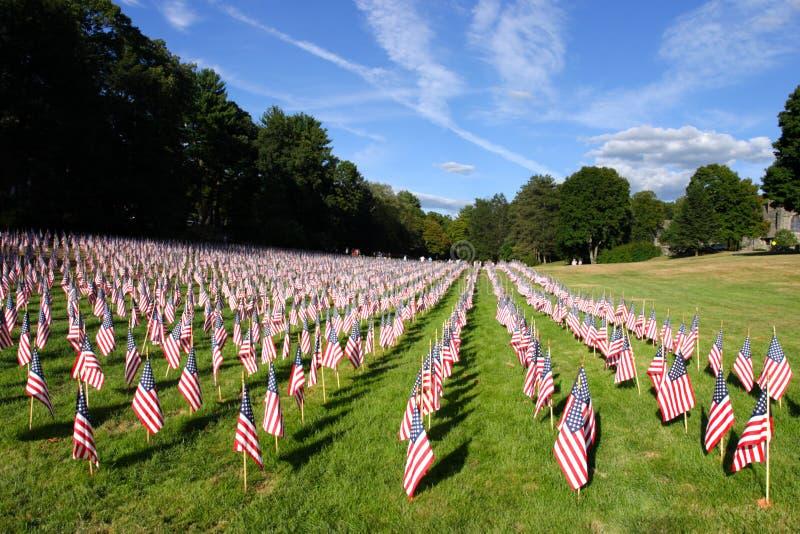 Voorraadbeeld van gebied van Amerikaanse vlaggen royalty-vrije stock foto