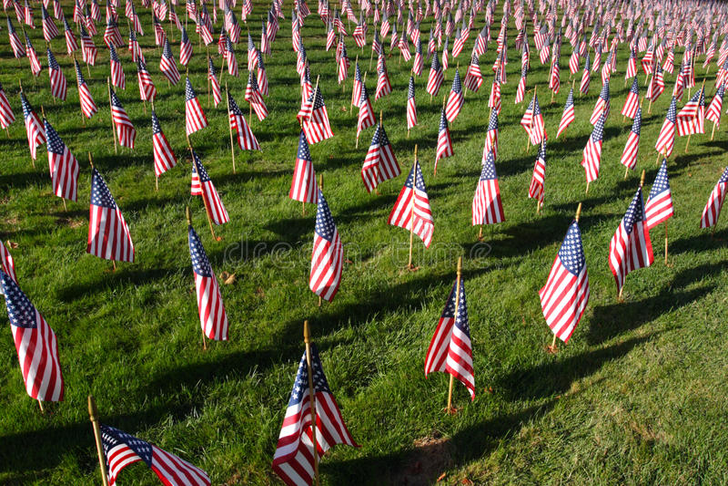 Voorraadbeeld van gebied van Amerikaanse vlaggen stock foto's