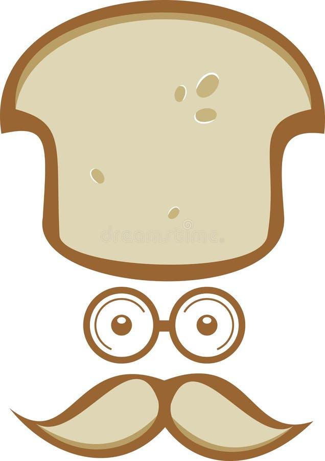 Voorraadembleem mijnheer bread chef royalty-vrije illustratie