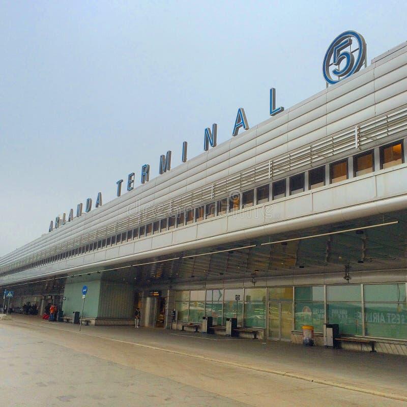 voorraadholm luchthaven stock foto