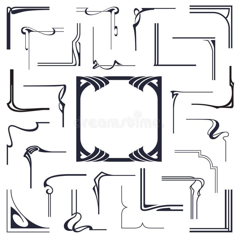 Voorraadvector Abstracte hoeken om een kader van de verbindende lijnen tot stand te brengen stock illustratie