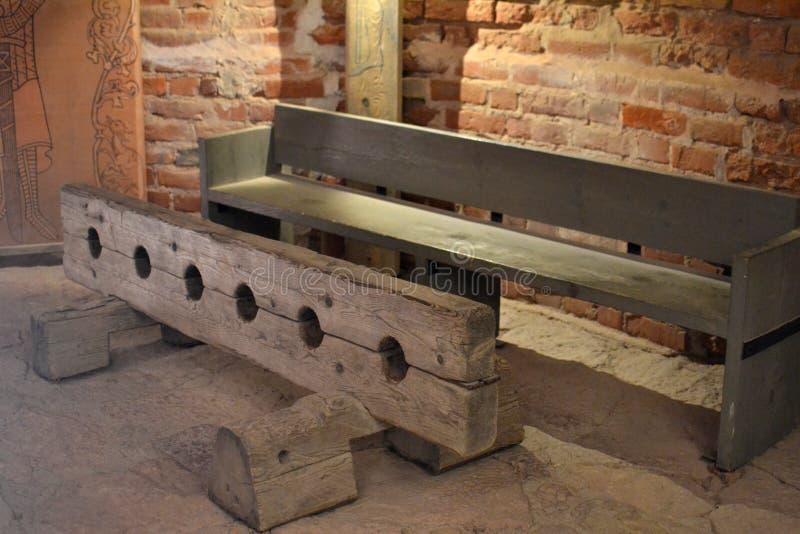 Voorraden in kasteelruïnes in Turaida stock foto's