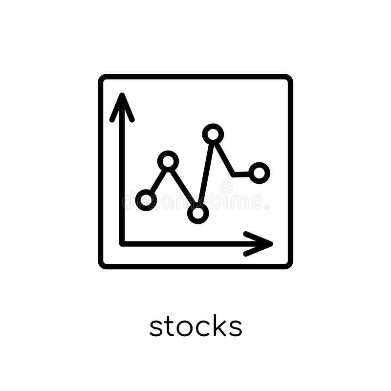 Voorradenpictogram In modern vlak lineair vectorvoorradenpictogram op whi vector illustratie