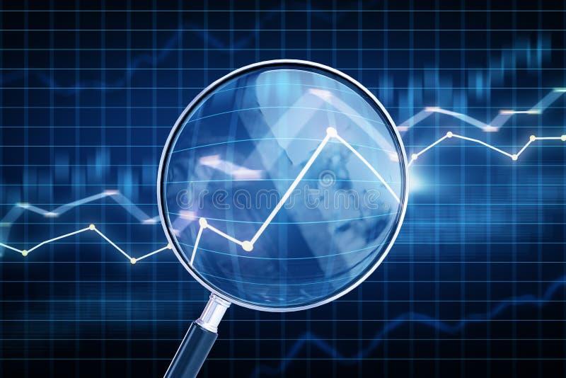 Voorspelling en handelsconcept stock illustratie