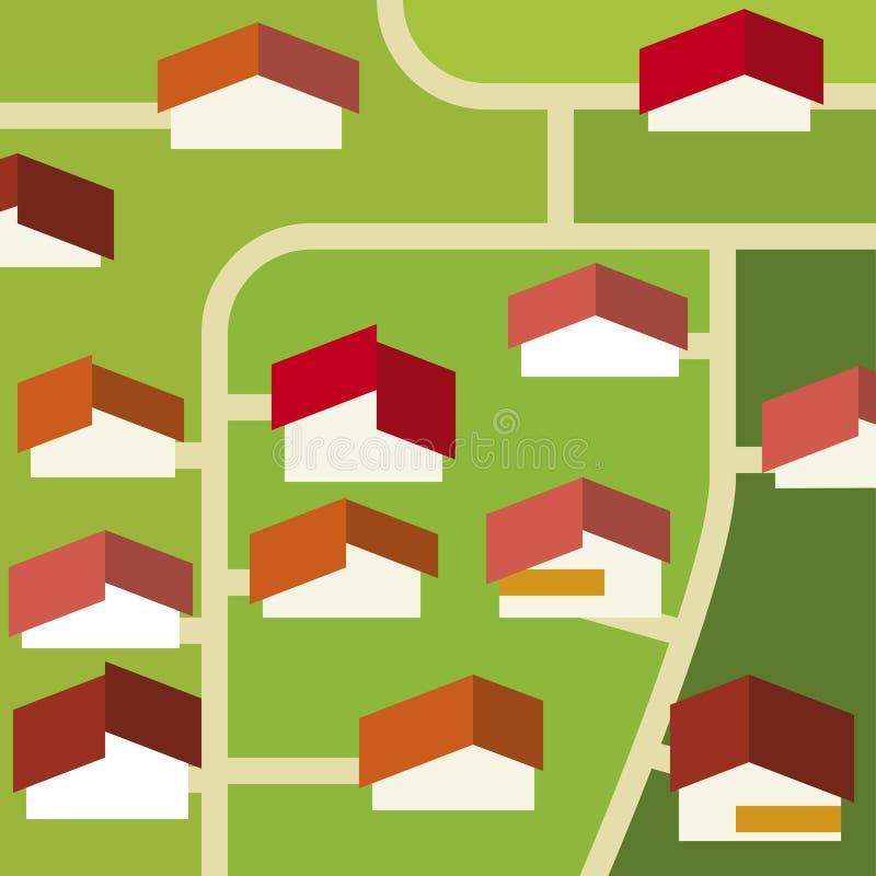 Voorstad (vector) Stock Fotografie