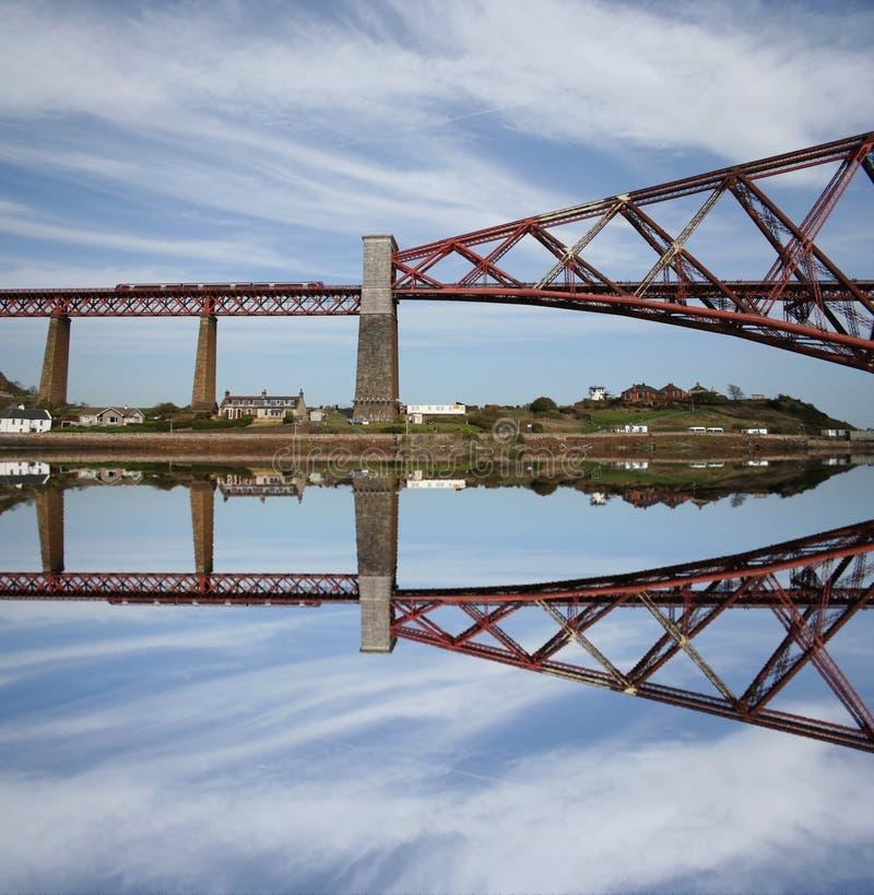 Vooruit de Brug Schotland van het Spoor royalty-vrije stock afbeeldingen
