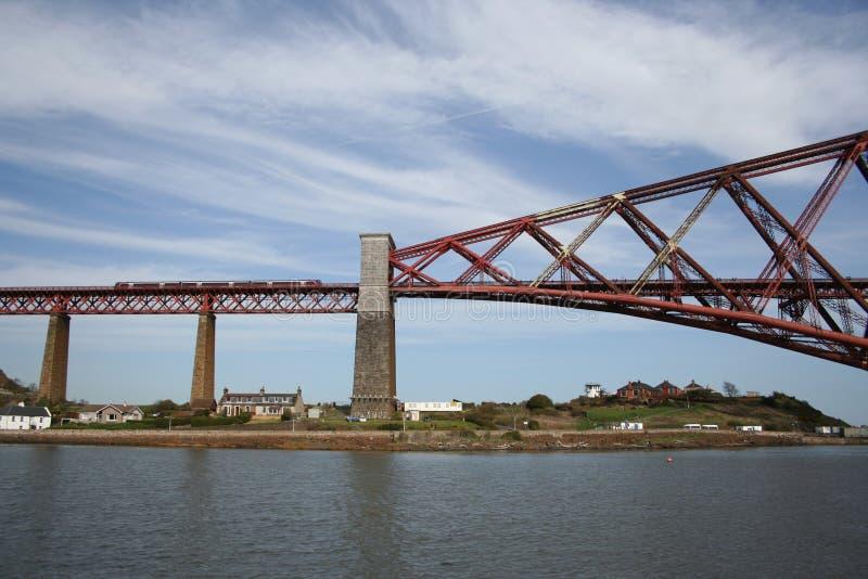 Vooruit de brug van het Spoor, Edinburgh stock foto