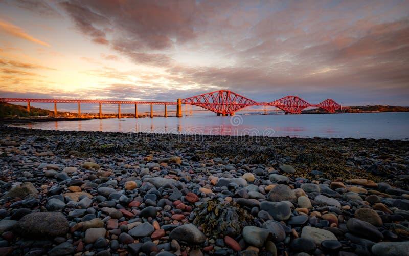 Vooruit Spoorbrug, Queensferry, Edinburgh royalty-vrije stock fotografie