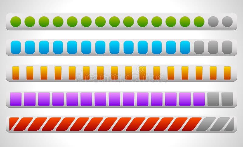 Vooruitgang of Ladingsbars stock illustratie