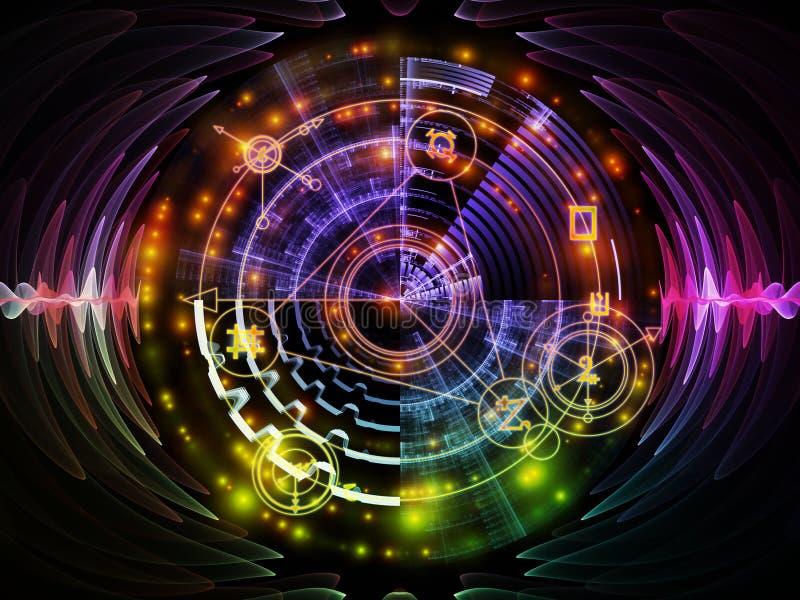 Vooruitgang van Mysticuscirkel stock illustratie