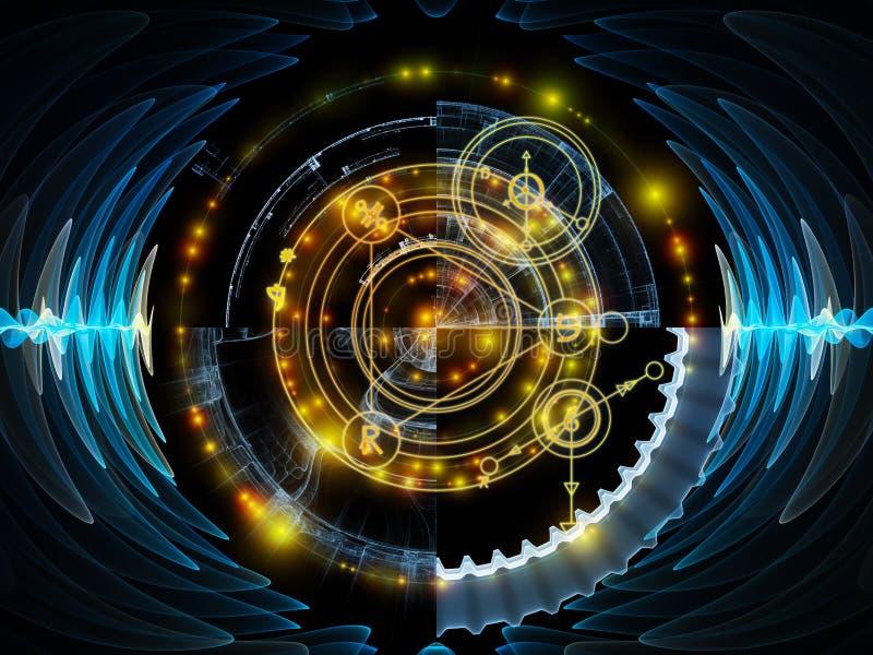 Vooruitgang van Mysticuscirkel vector illustratie