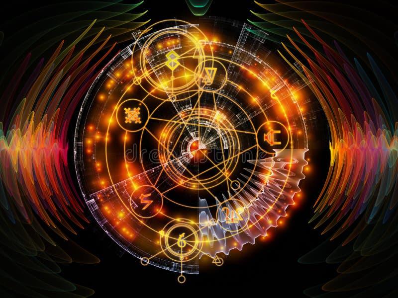 Vooruitgang van Mysticuscirkel royalty-vrije illustratie