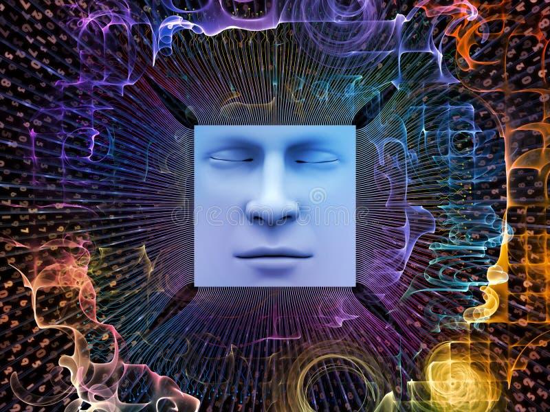 Vooruitgang van Super Menselijke AI royalty-vrije illustratie