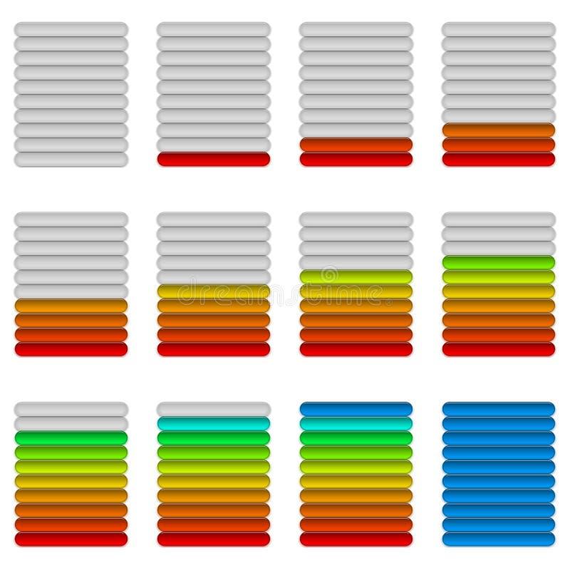 Vooruitgangsbars, reeks stock illustratie