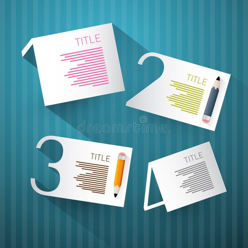 Vooruitgangsstappen voor Leerprogramma, Infographics stock illustratie