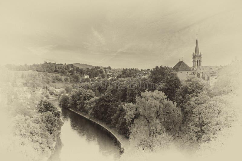 Vooruitzicht in Bern stock foto's