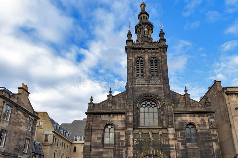 Voorvoorgevel van Augustine Church Centre in Edinburgh, Schotland stock foto's