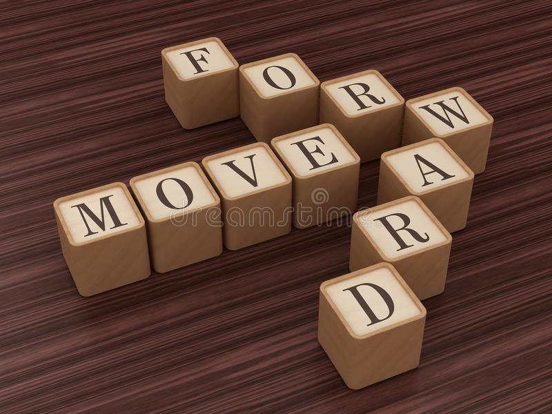 Voorwaartse beweging stock illustratie