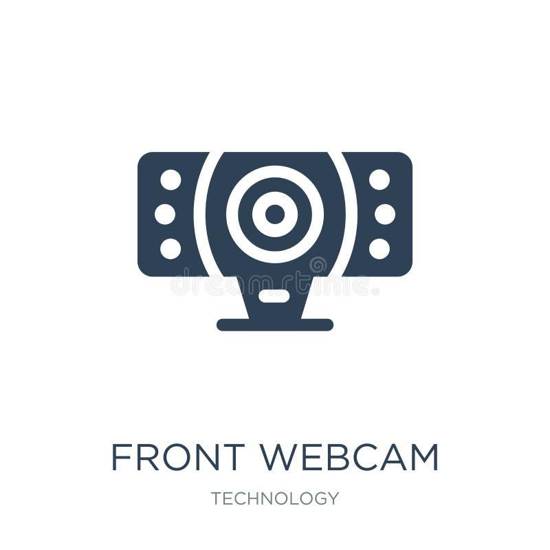 voorwebcampictogram in in ontwerpstijl voordiewebcampictogram op witte achtergrond wordt geïsoleerd voor eenvoudig webcam vectorp vector illustratie
