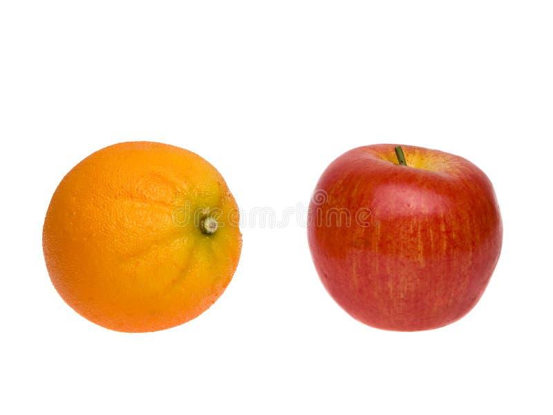 Voorwerpen - Appelen en Sinaasappelen stock afbeeldingen