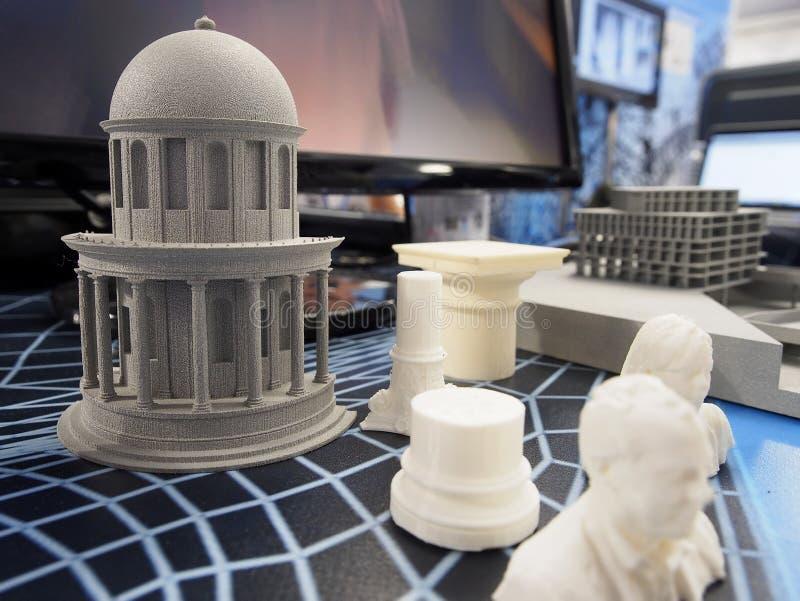 Voorwerpen van een 3D printer royalty-vrije stock foto