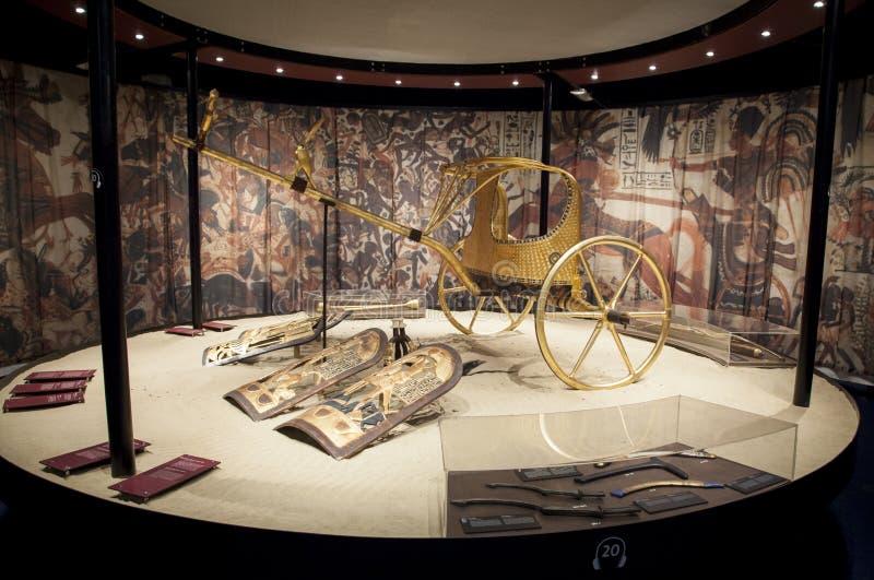 Voorwerpen van het graf van Tutankhamen royalty-vrije stock foto