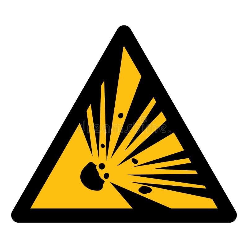 Voorzichtig zijn het Teken van het Explosief Materiaalsymbool isoleren op Witte Achtergrond, Vectorillustratie EPS 10 stock illustratie