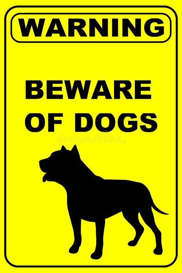 Voorzichtig zijn van Hondenwaarschuwingsbord royalty-vrije stock fotografie
