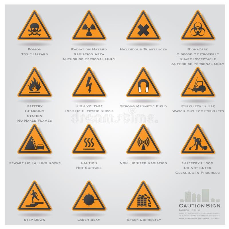 Download Voorzichtigheid En Waarschuwingsbord Geplaatste Pictogrammen Vector Illustratie - Illustratie bestaande uit bericht, cirkel: 39109389