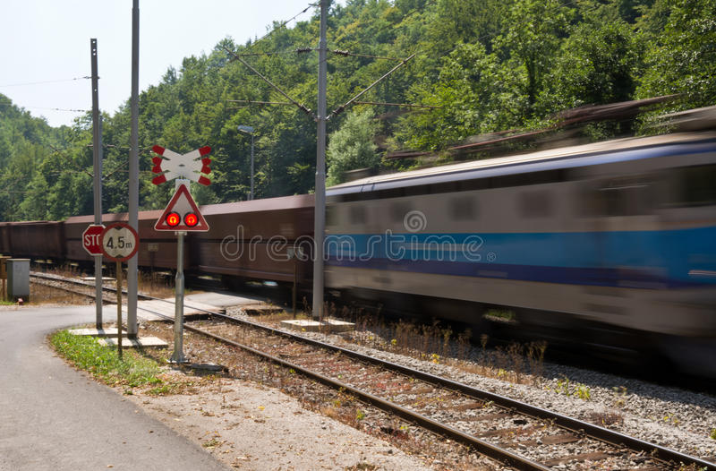 Voorzichtigheids gaande trein royalty-vrije stock foto's