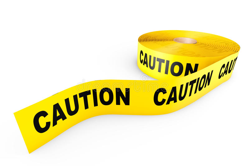 Voorzichtigheids Gele Band vector illustratie