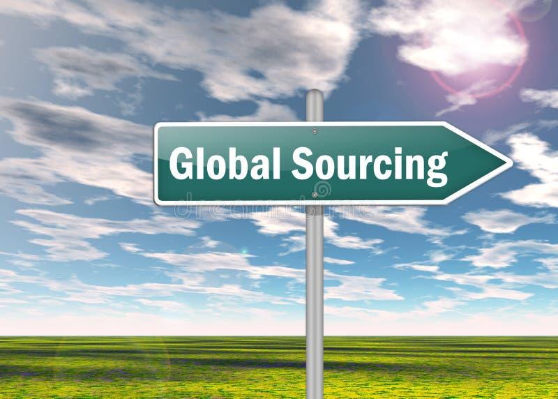 Voorzie Globale Sourcing van wegwijzers stock illustratie