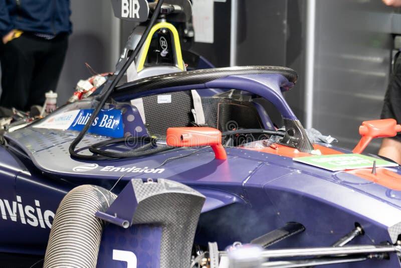 Voorzie Maagdelijke Raceauto stock foto