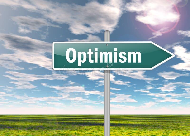 Voorzie Optimisme van wegwijzers stock illustratie