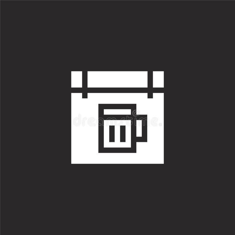 Voorzie Pictogram van wegwijzers Gevuld voorzie pictogram voor websiteontwerp van wegwijzers en mobiel, app ontwikkeling voorzie  royalty-vrije illustratie